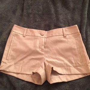 Express gold textured shorts